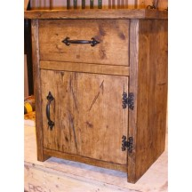 Bedside Table - Drawer & Full Door